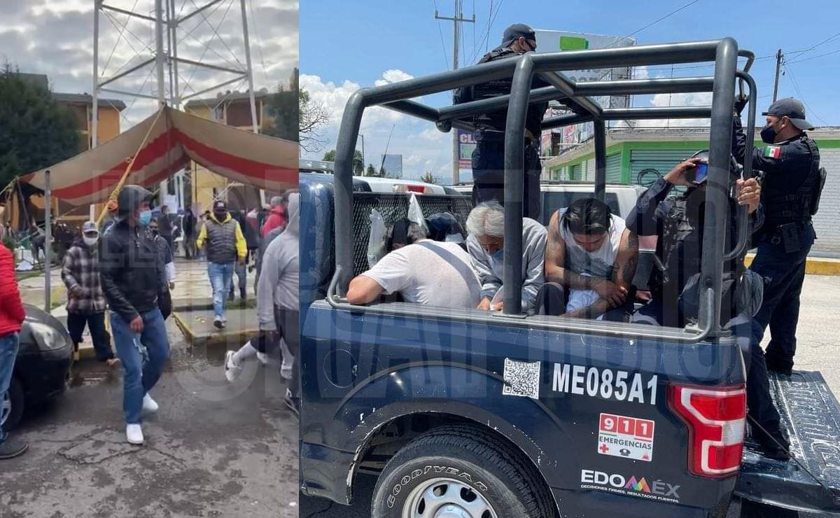 (VIDEO) Atoran a 15 que destruyeron casilla y golpearon a funcionarios y votantes en Metepec