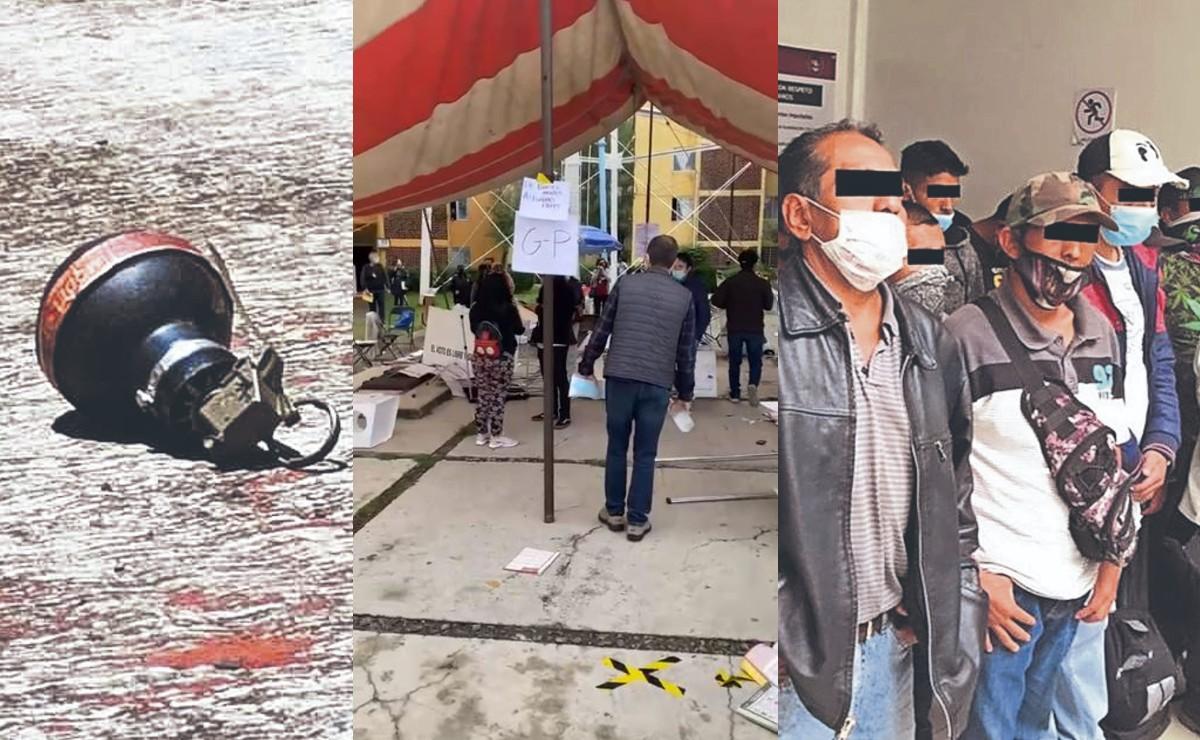 Tiroteos, detenidos y hasta bombas, así estuvo la jornada electoral en Edomex