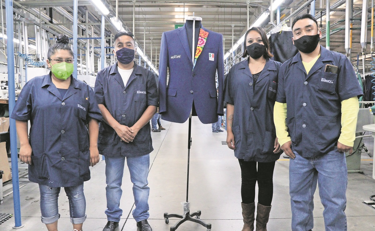 Mexiquenses confeccionan trajes olímpicos inspirados en bordados de Oaxaca
