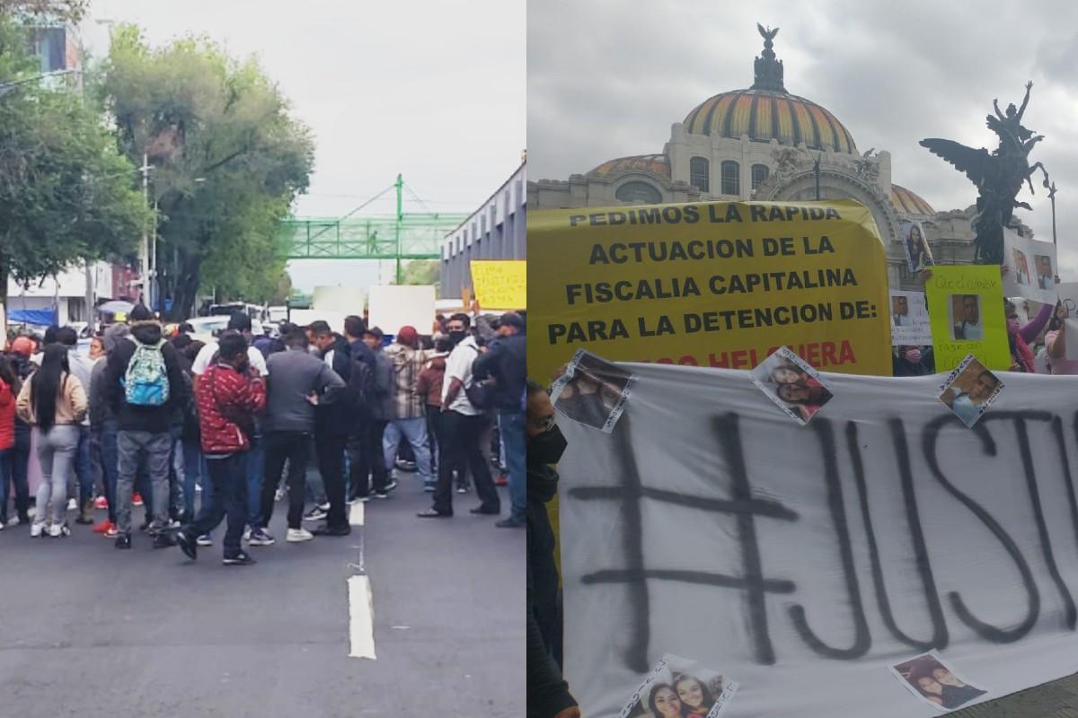 Manifestaciones de hoy en CDMX, por Polly y comerciantes retirados de sus puestos