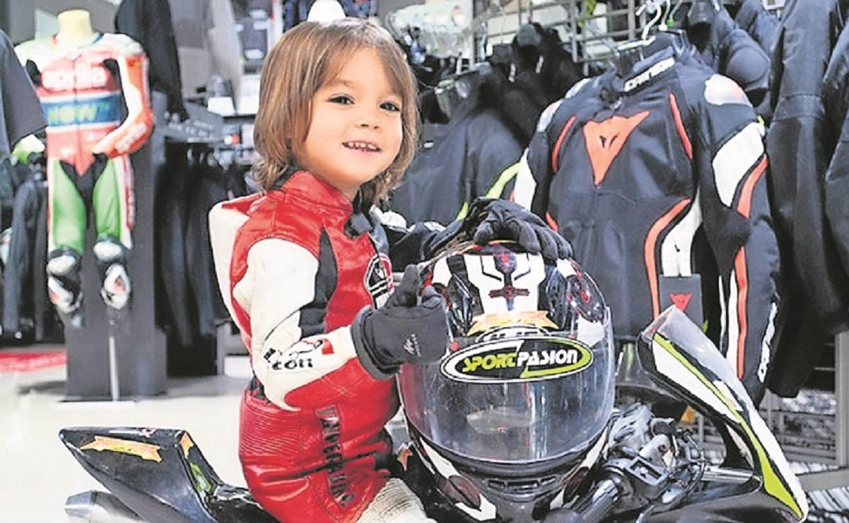 """Luca """"Terremoto"""", el piloto de motocicletas de 4 años que ya está en el Récords Guinness"""