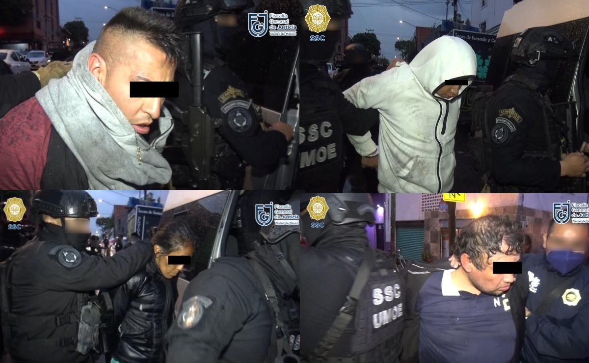Detienen a 16 personas con más de 800 envoltorios de cocaína, en el centro de CDMX