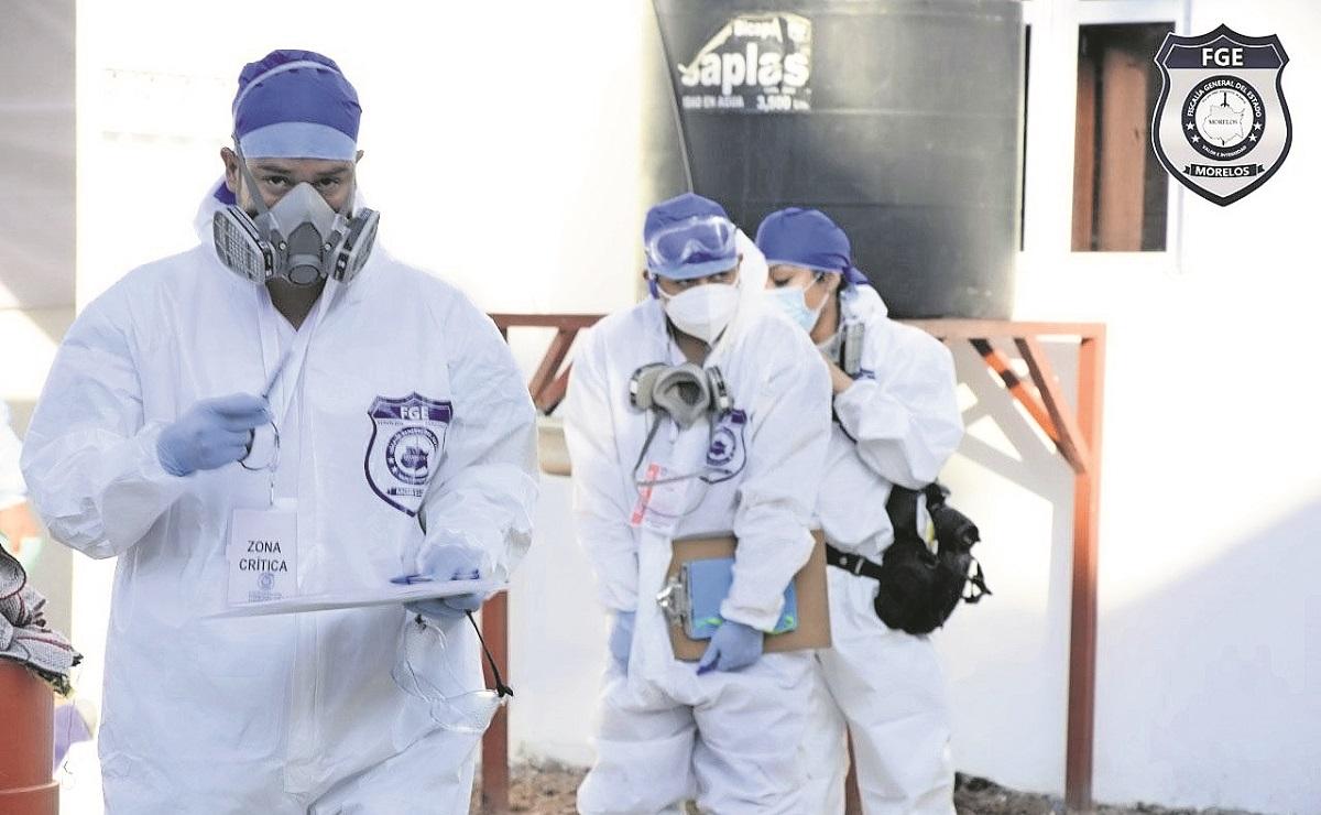 Llevan al panteón 42 cuerpos confinados en el Semefo de Morelos, tras inhumación