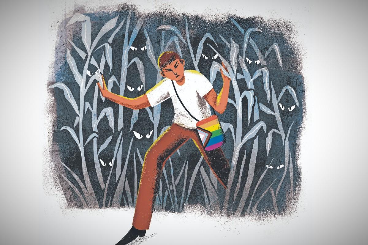 La historia de Acxel, un joven gay e indígena que no ha vuelto a su pueblo por temor