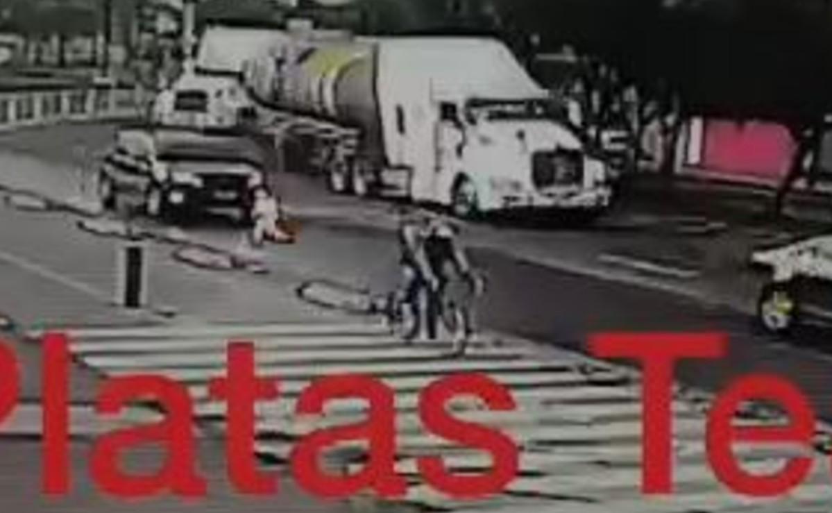 Video captó milagro en Iztapalapa, tras brutal caída de tráiler que deshizo auto