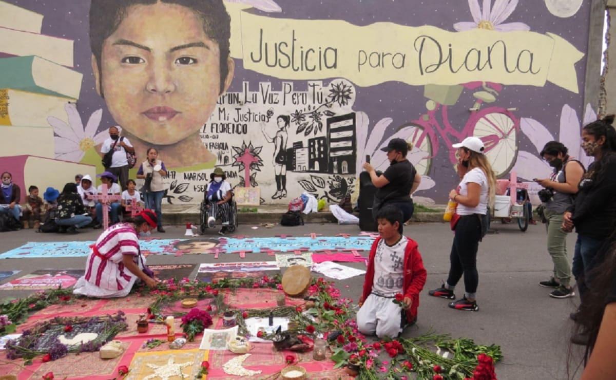 Familiares de Diana Velázquez se manifiestan en Edomex, a cuatro años de su feminicidio