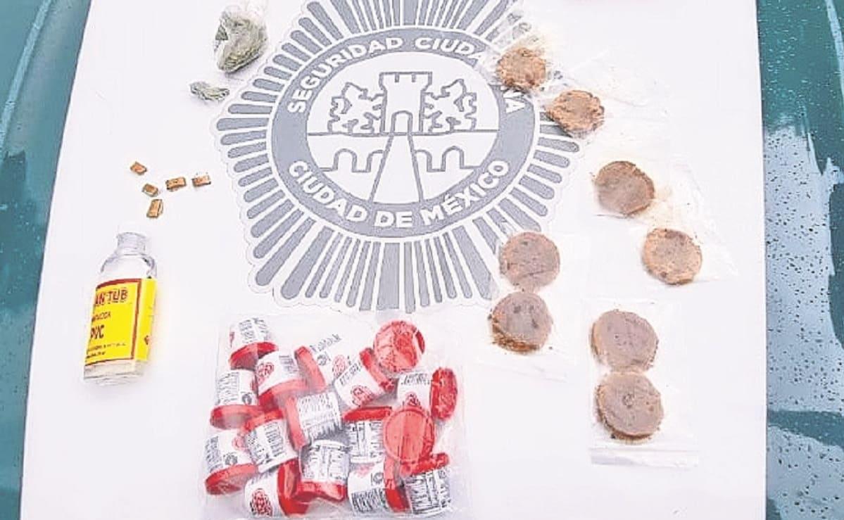 Detienen a 4 jóvenes por vender en la calle dulces de mariguana en la colonia Roma