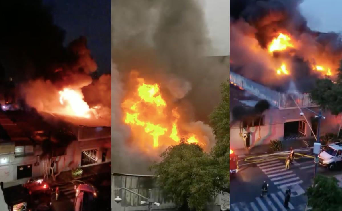 Gigantesco incendio en bodega de la alcaldía Benito Juárez provoca desalojo de más de 500 vecinos