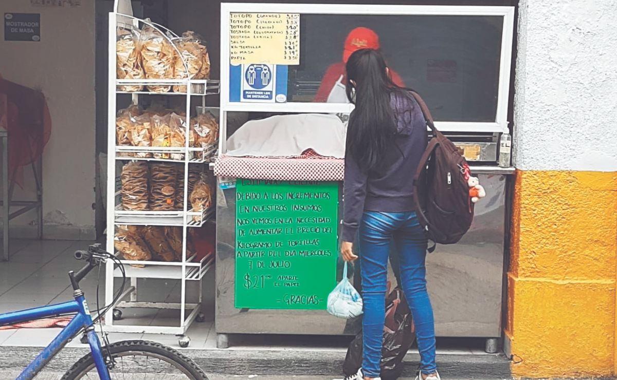 Kilo de tortilla se vende en diferentes precios en México, va de los 14 a los 23 pesos