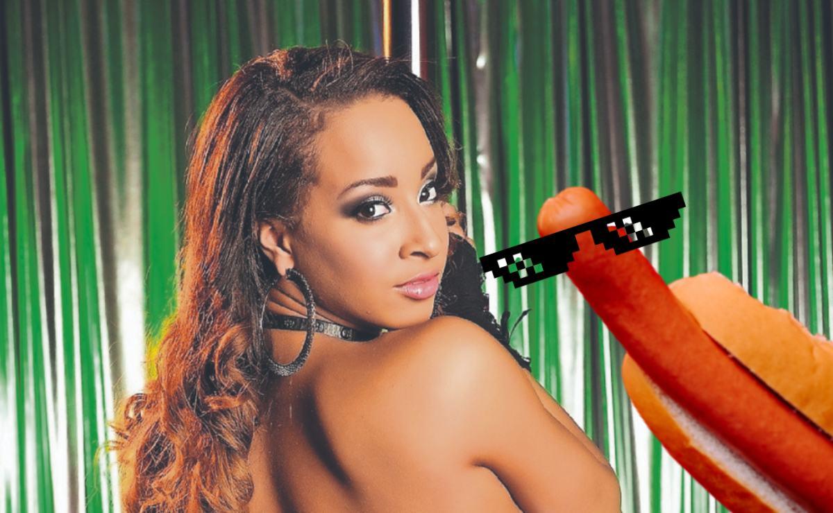 Estrella del cine porno asegura que le caben 76 salchichas y lo presume en Twitter