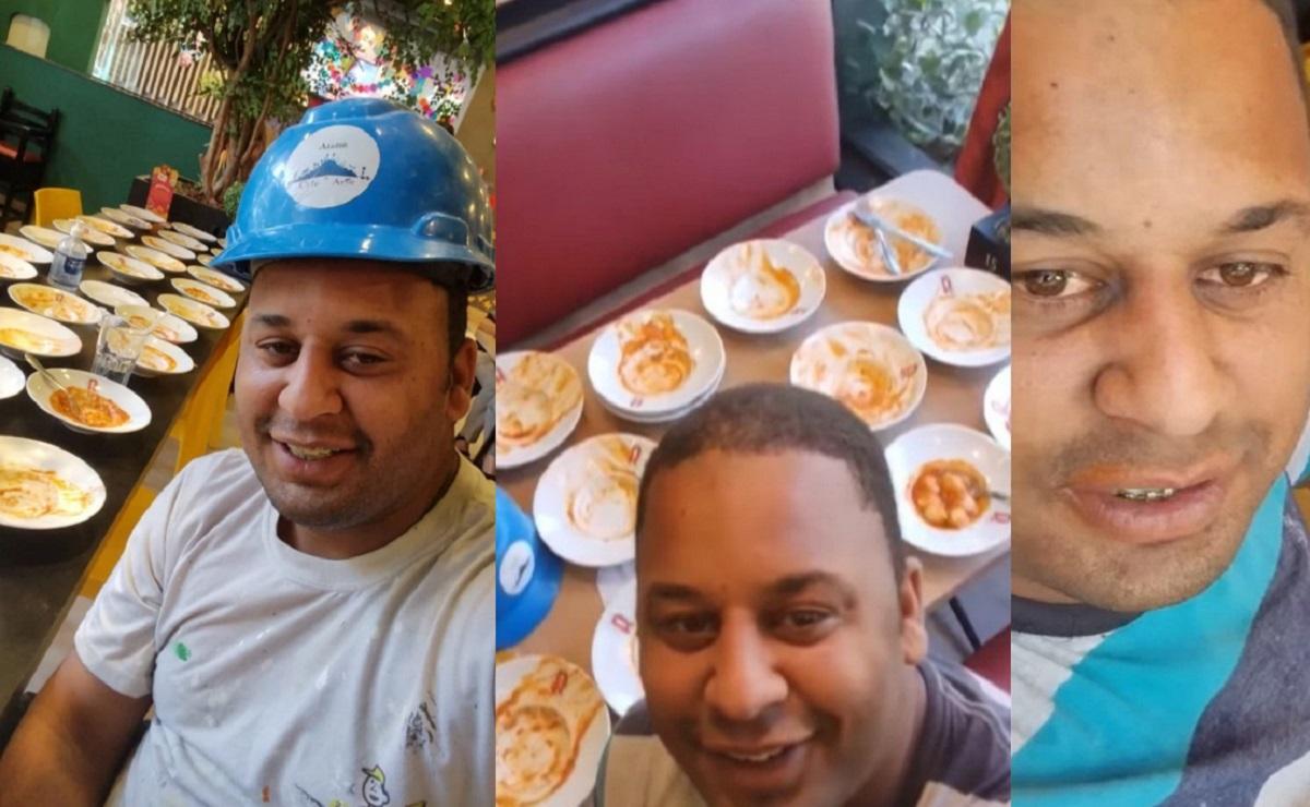 Corren a hombre de buffet luego de comerse 15 platillos de pasta, su queja se vuelve viral