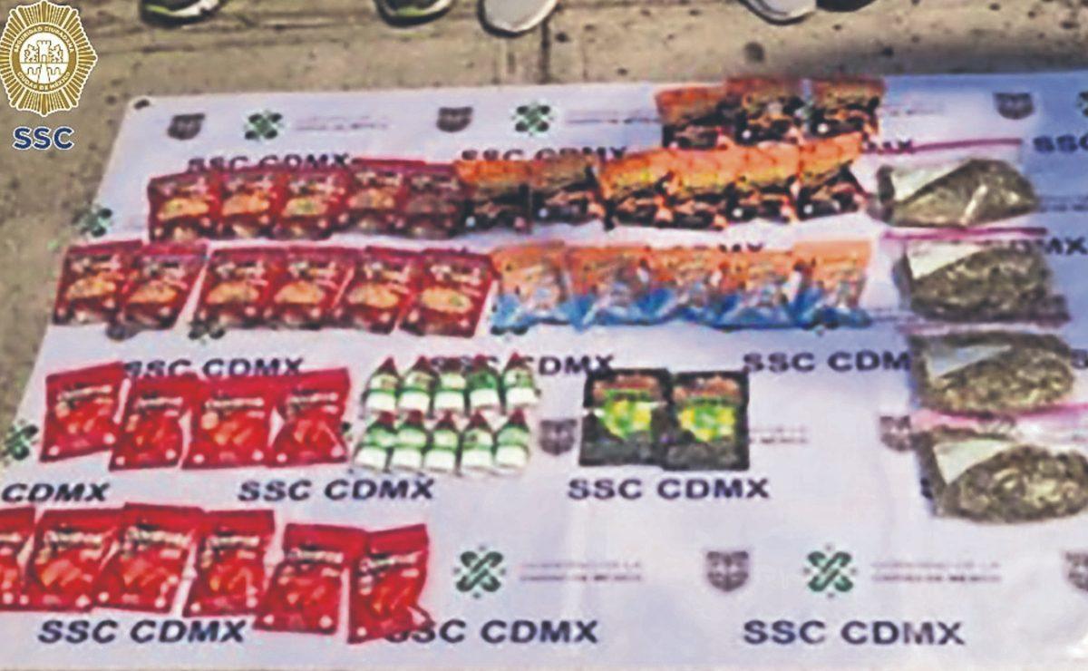 Atoran a tres hombres por vender dulces y frituras con marihuana, en CDMX