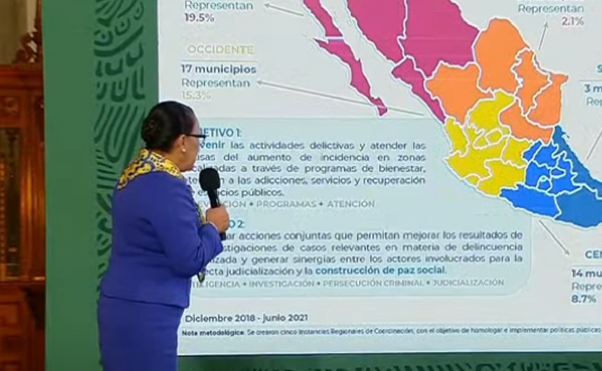 Dividen a México en 5 regiones para atender a los 50 municipios más violentos