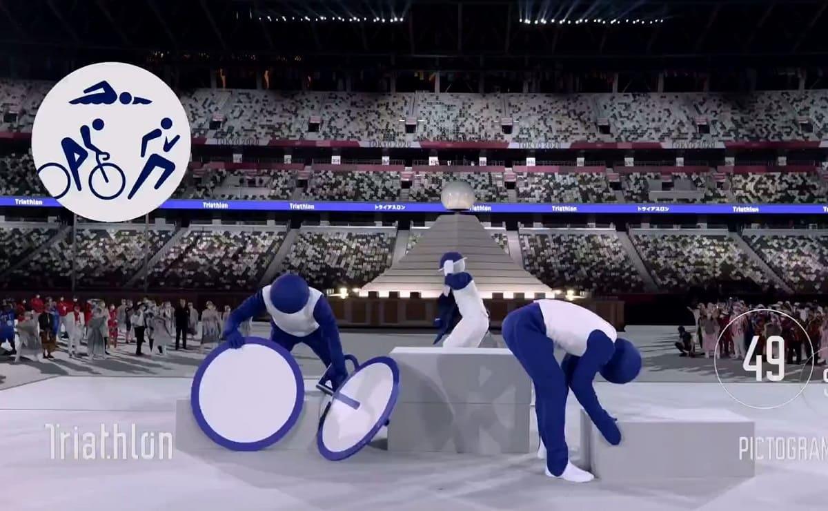 Así fue la impresionante presentación de los pictogramas de los Juegos Olímpicos