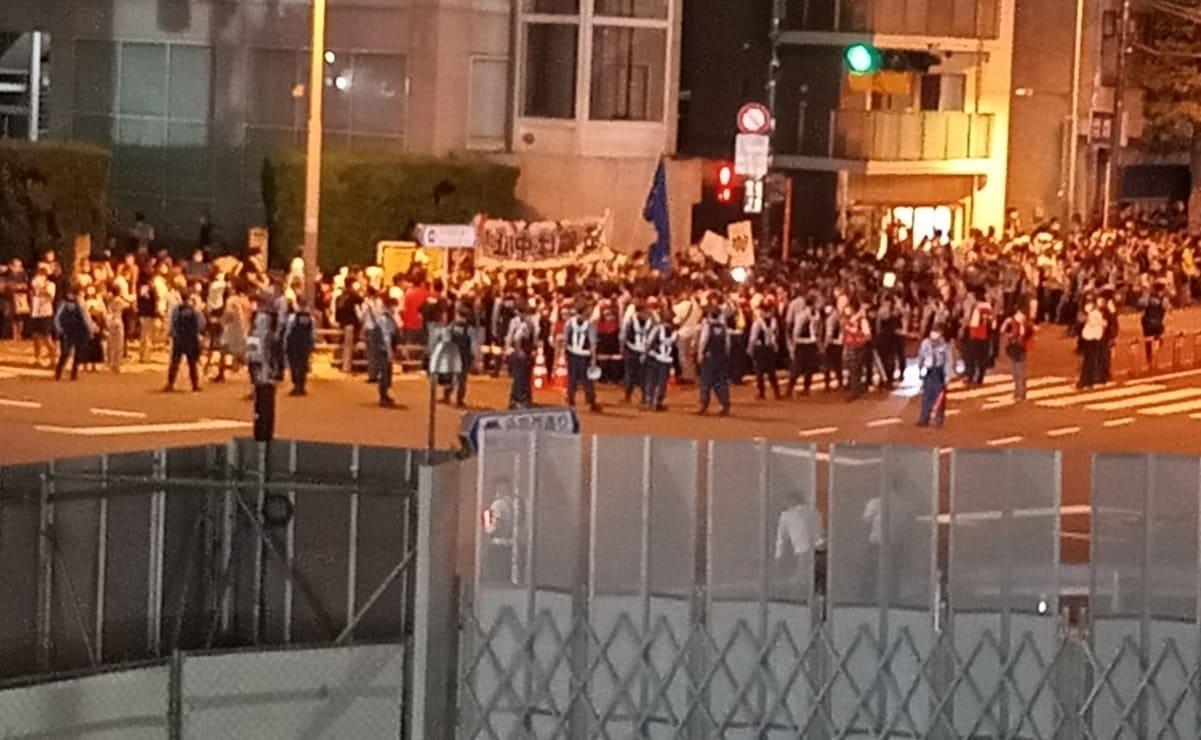 Protestas en plena inauguración, por la realización de los Juegos Olímpicos en Tokio