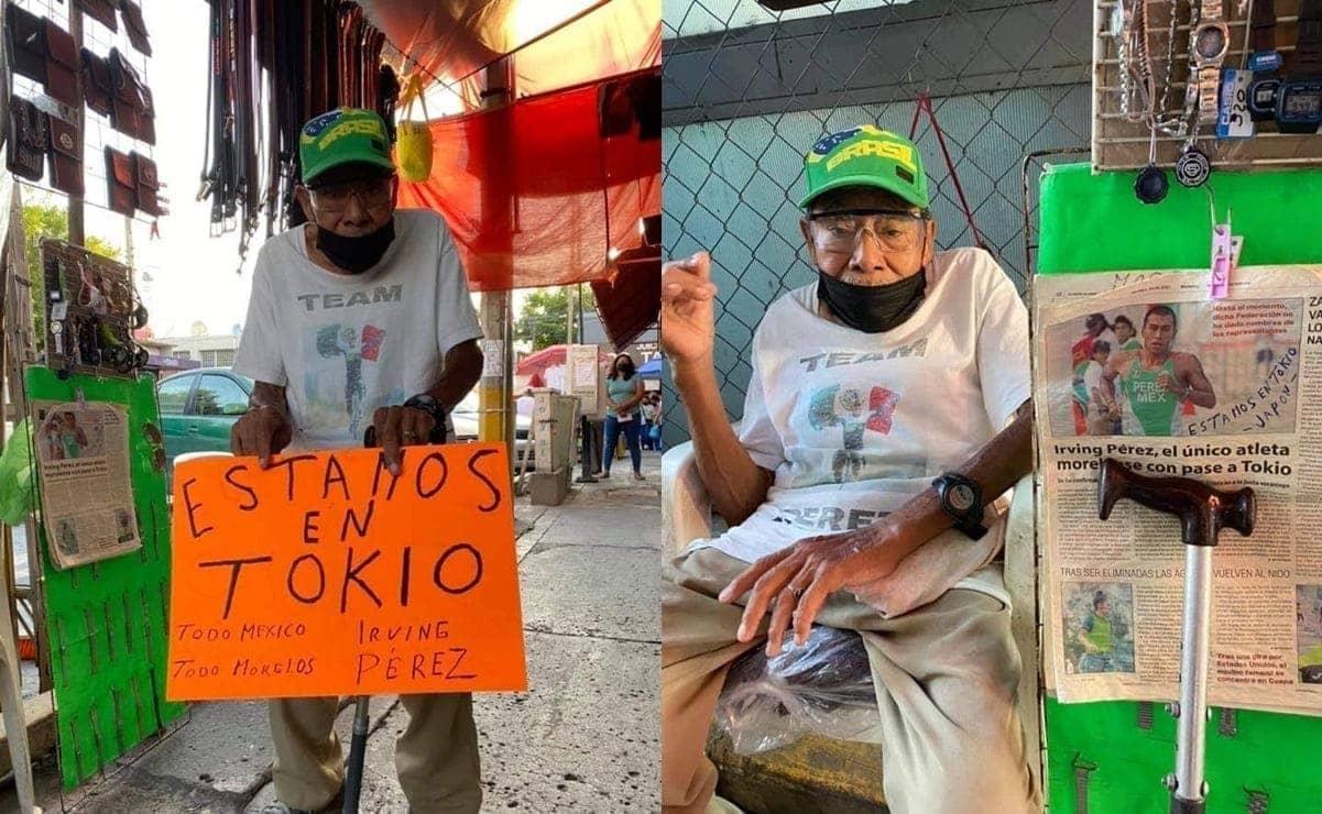 Abuelo apoya a su nieto desde su puesto en Morelos por su participación en JO