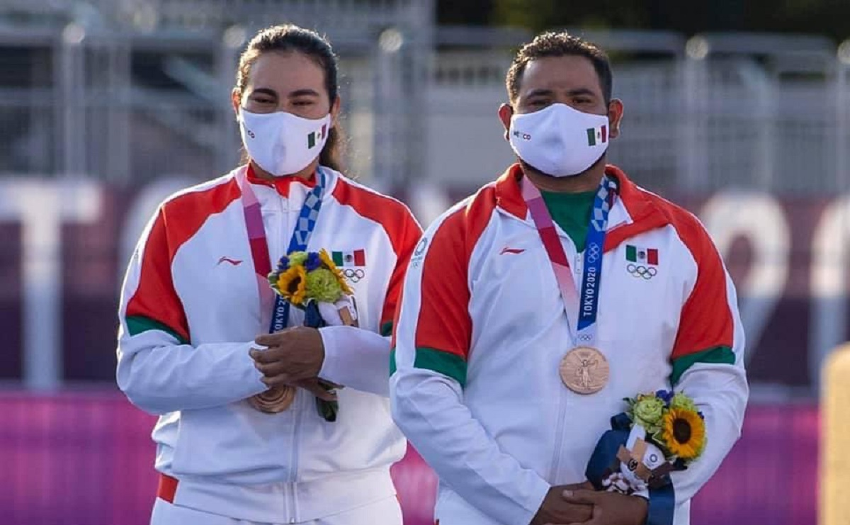 Tiro con Arco en mixtos da el bronce y la primera medalla para México en Tokio 2020