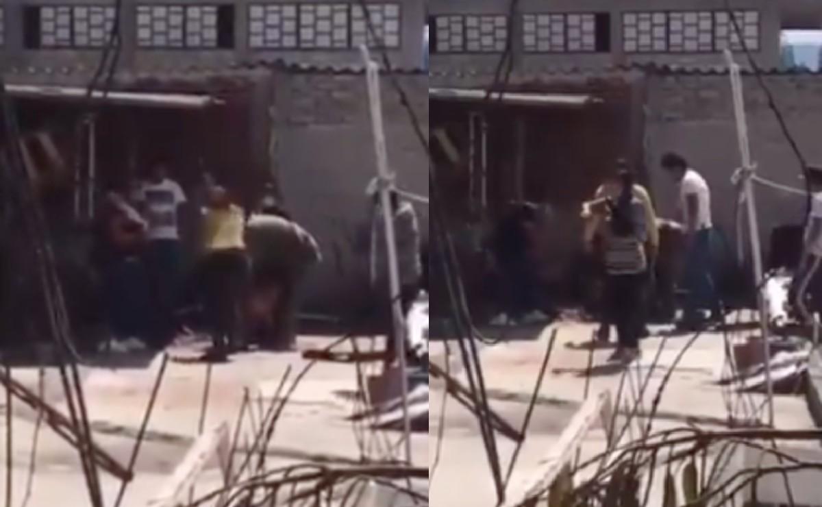 Familia asesina con saña a perro amarrado en Tlalnepantla, video provoca terror e ira en redes