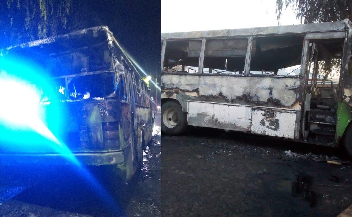Extorsionadores incendian un microbús en Ecatepec, ya había personas a bordo