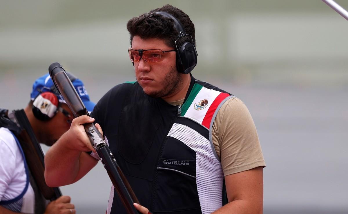 Jorge Orozco acarició el podio de Tokio, quedó en cuarto lugar en la final de tiro de fosa
