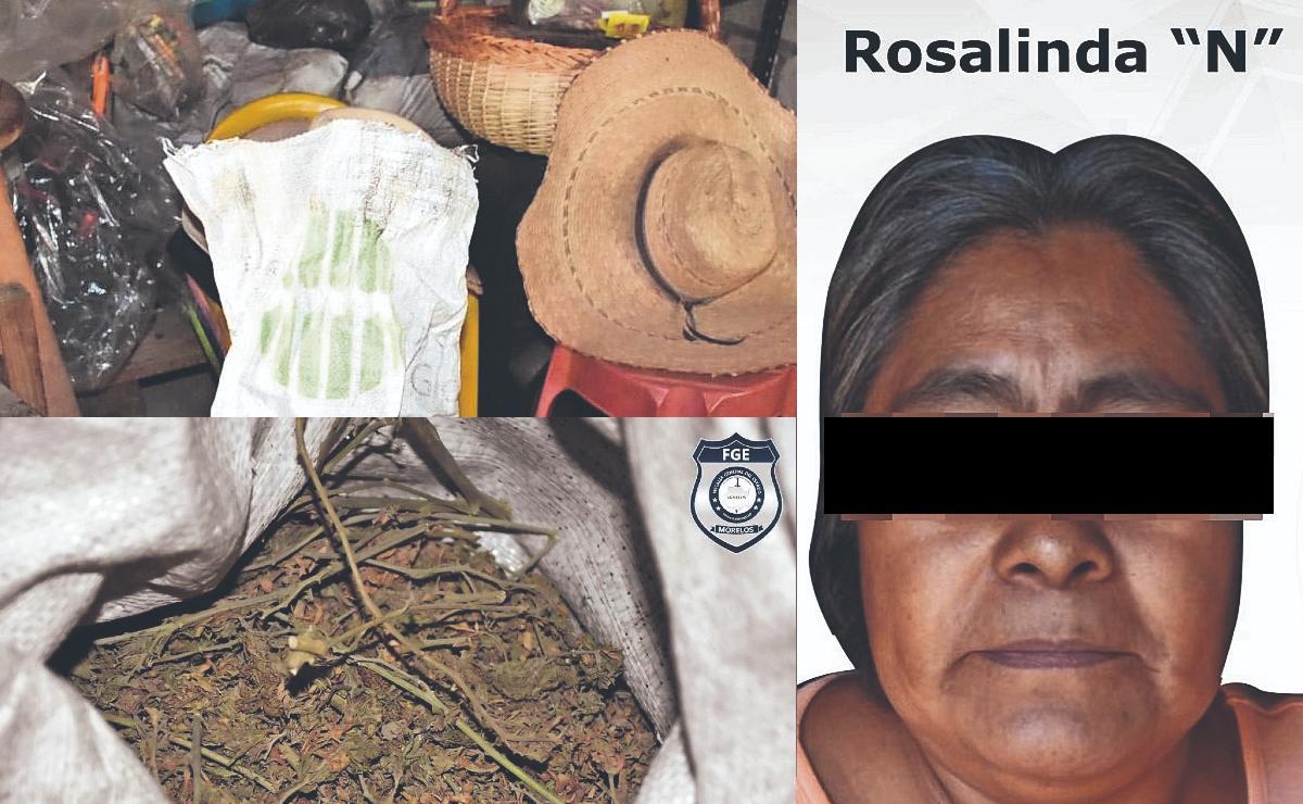 Detienen a ñora que vendía mota por kilo, en Morelos