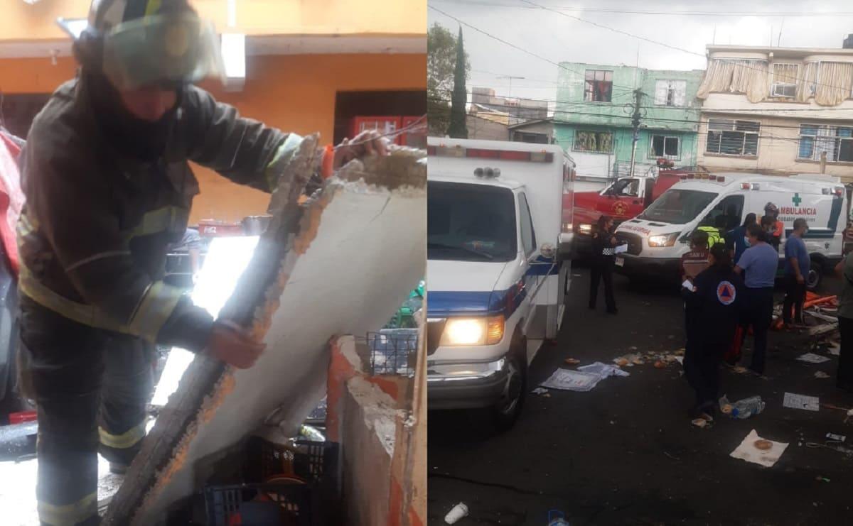Explota taquería en Iztacalco, se reportan más de 10 lesionados