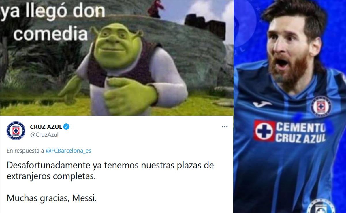 Leo Messi se va del Barcelona y Cruz Azul le informa que no lo fichará, ya hay memes