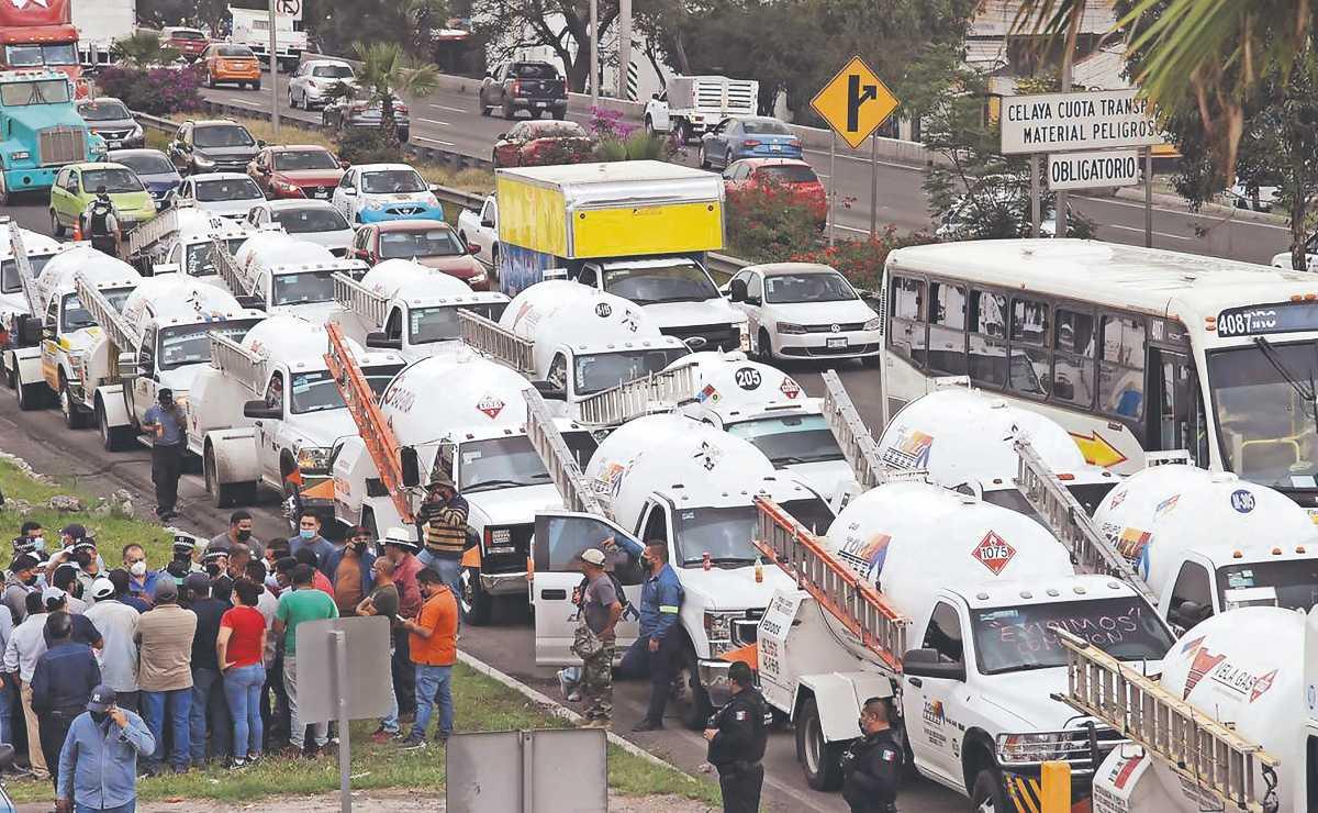 Paro de gaseros causó caos en comercios, transporte y hogares de cuatro entidades