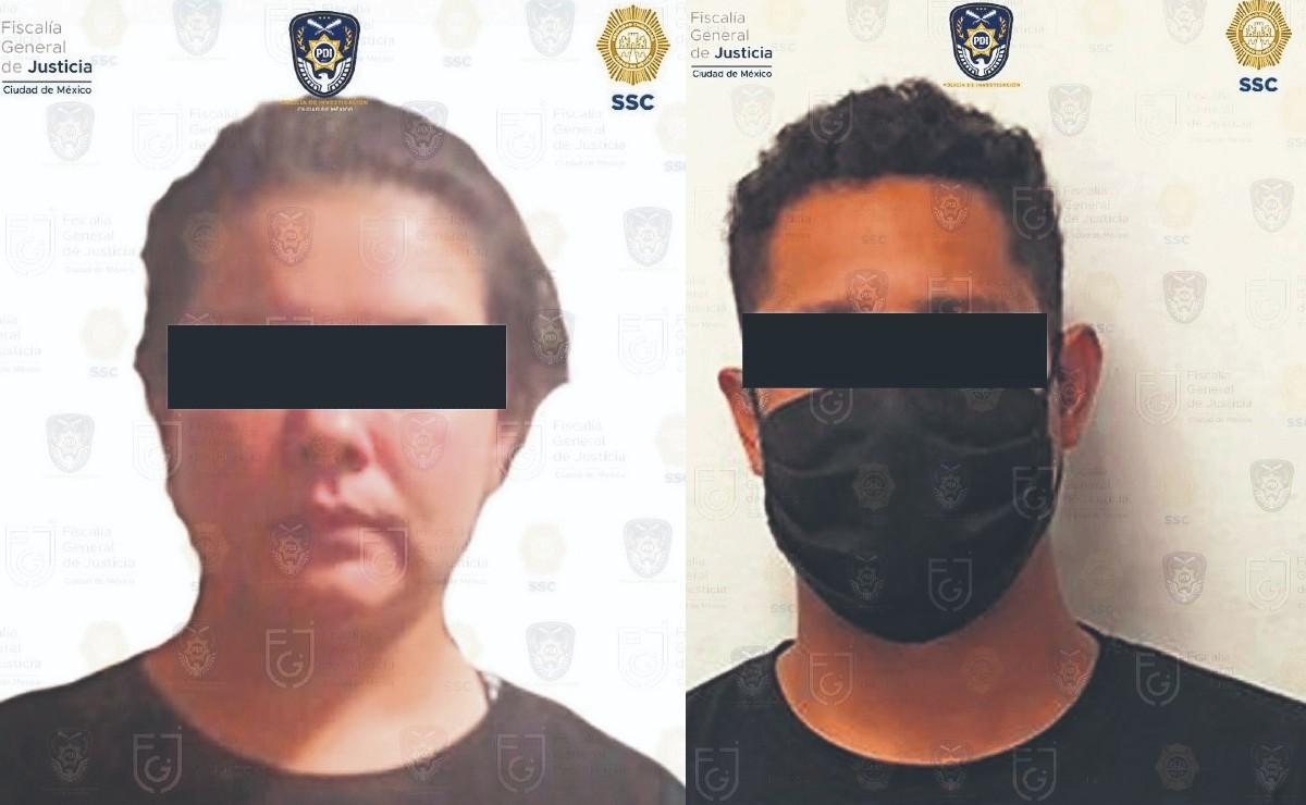 Atoran a dos por colgar manta con cabeza de puerco y amenazas, en la Ciudad de México