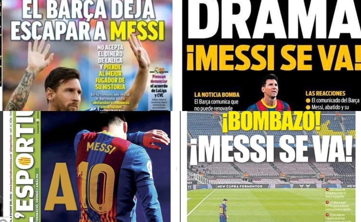 Salida de Lionel Messi del Barcelona acapara las portadas a nivel mundial