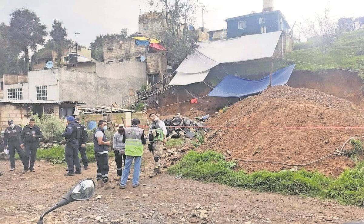 Deslizamiento de tierra deja un muerto en la alcaldía Álvaro Obregón