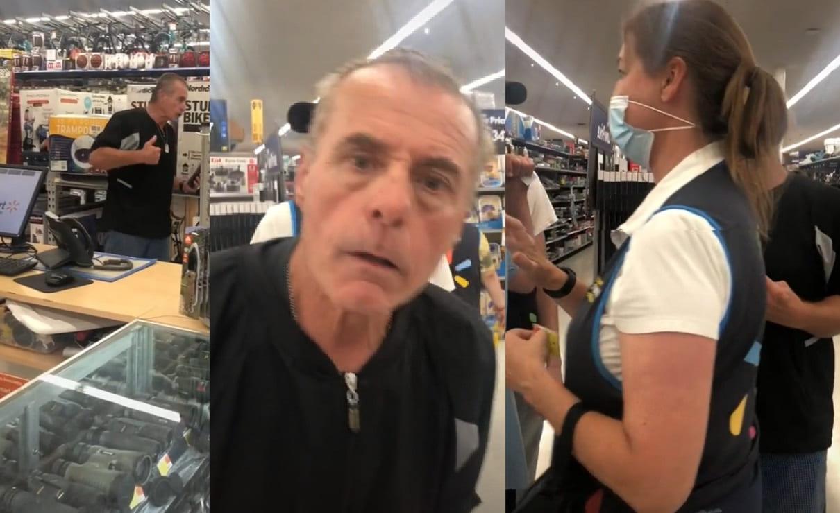 Exbombero enfurece al escuchar a empleada de Walmart hablar español, en Estados Unidos