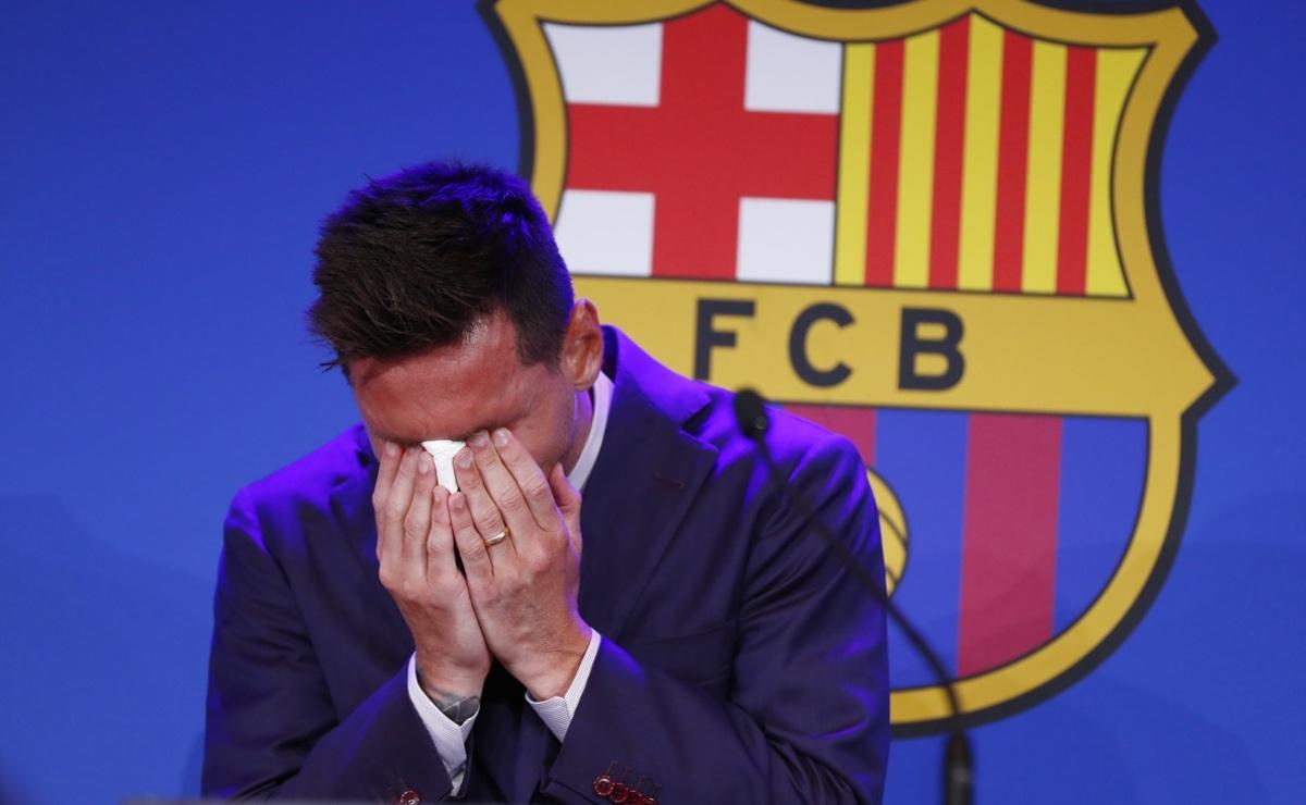 """""""Hice todo lo posible para quedarme"""", Messi rompe en llanto en su adiós del Barcelona"""
