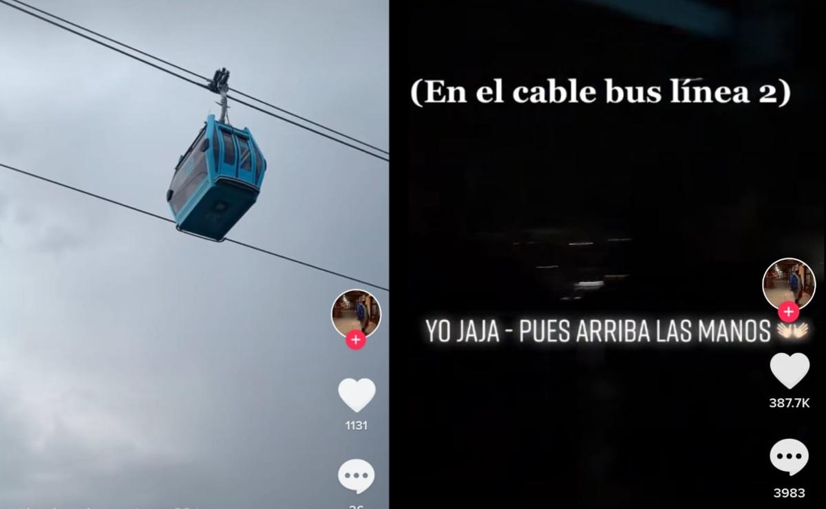 """""""Pues arriba las manos"""", tiktoker hace broma de asalto en el Cablebús de Iztapalapa"""