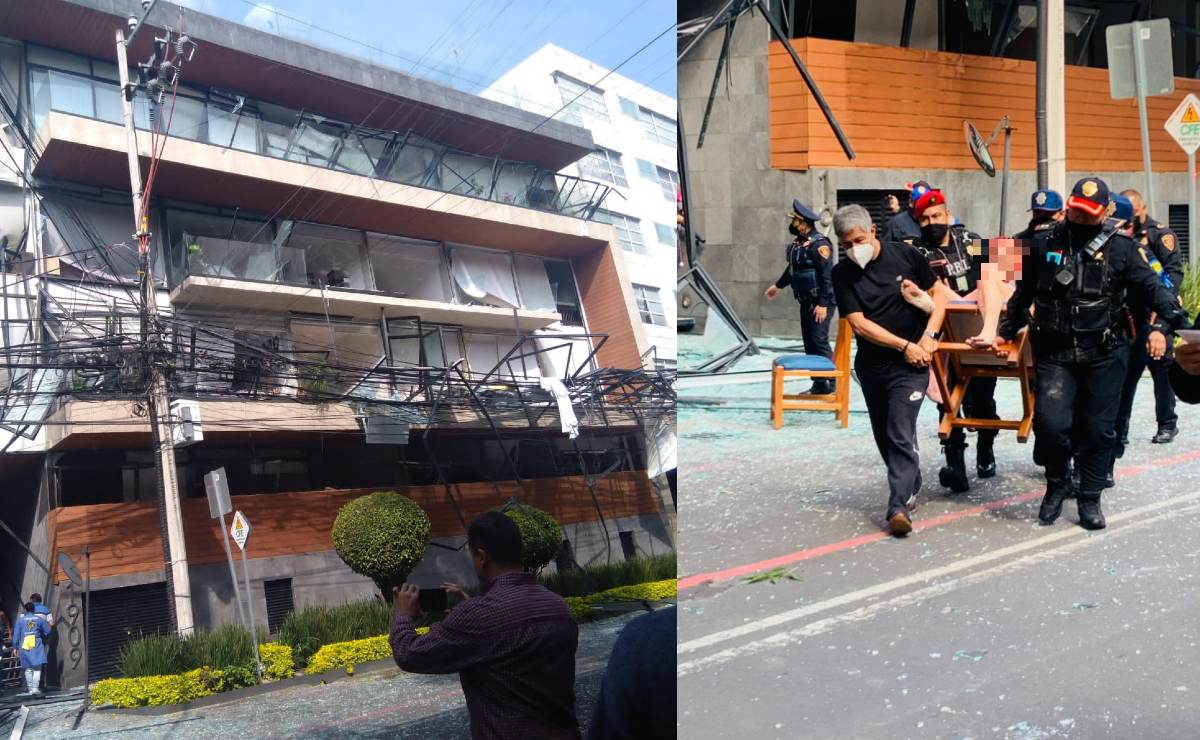 Lista de personas trasladadas a hospitales por explosión en edificio de Benito Juárez