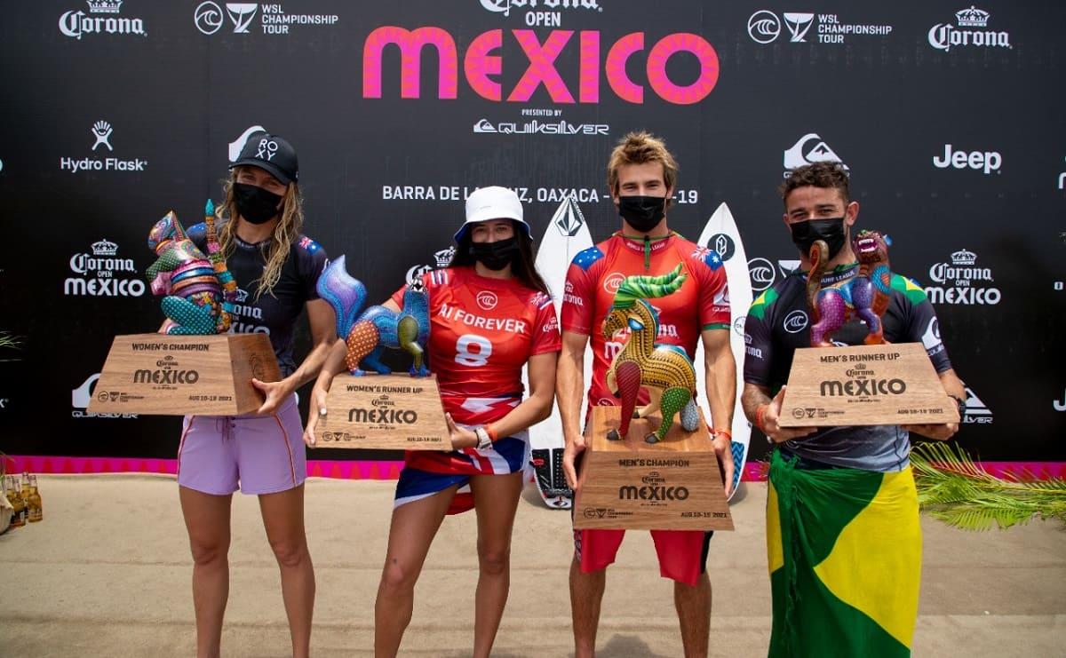 Australia se lleva la séptima parada del World Surf League en Oaxaca