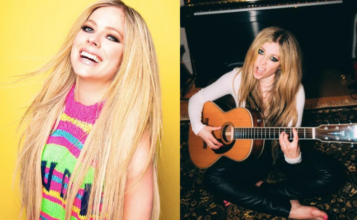 Avril Lavigne casi deja escapar pezón tras posar con un bikini fosfo, fosfo