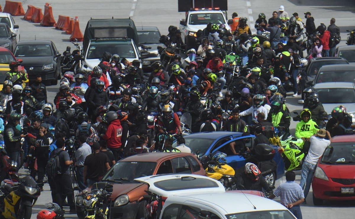 Fotos y videos de la rodada en honor a los 6 motociclistas muertos en la México-Cuernavaca