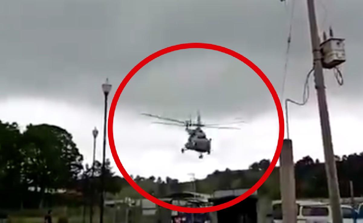 Graban momento de desplome de aeronave en la que viajaba secretario de gobierno de Veracruz