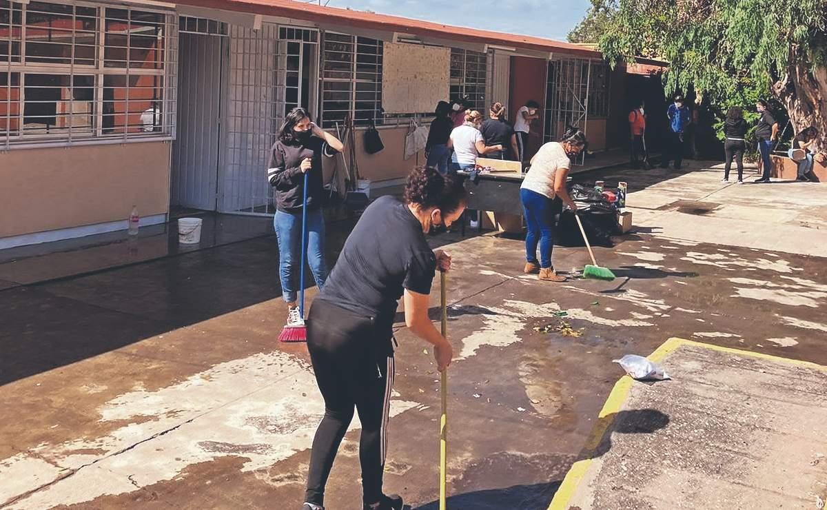 Realizan jornadas de limpieza para retornar las clases, en escuelas de Morelos