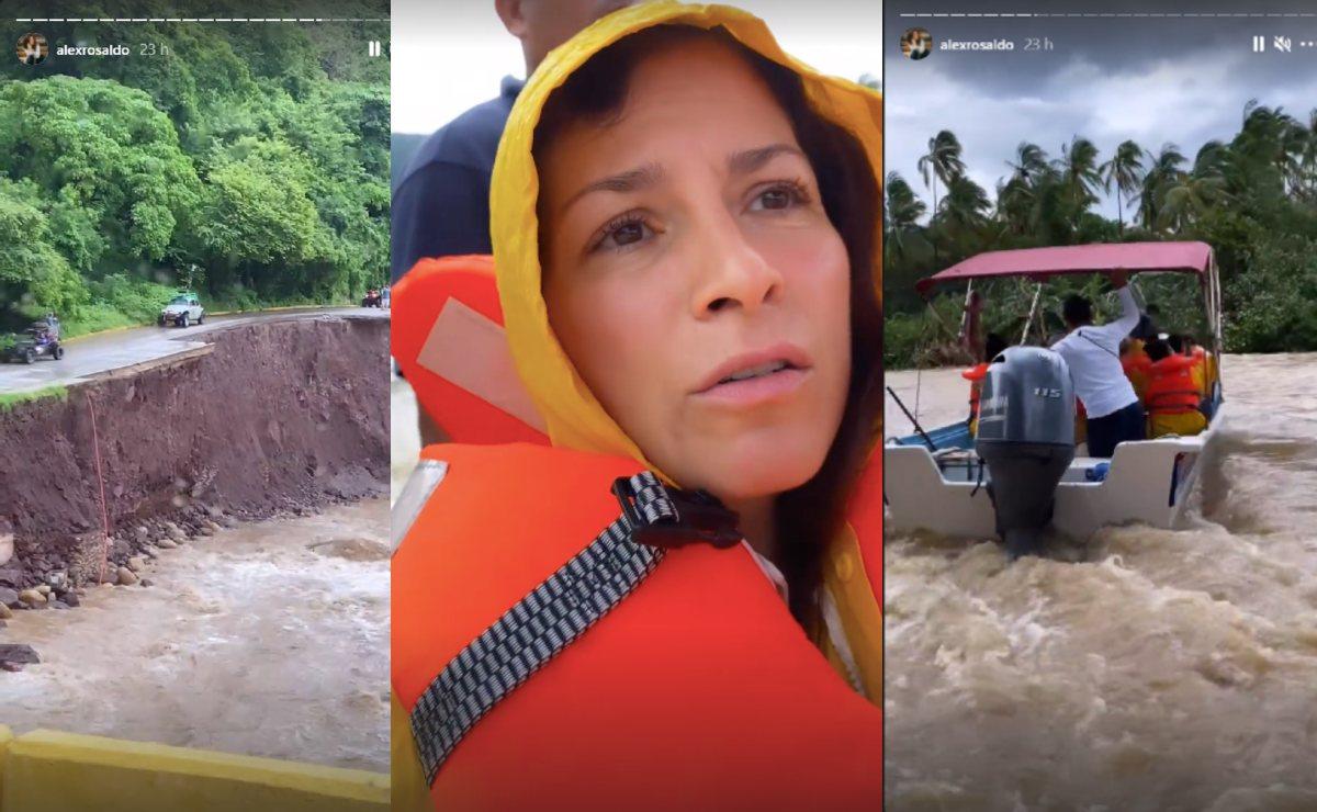 Alessandra Rosaldo muestra cómo escapó del huracán Nora, en su paso por Puerto Vallarta
