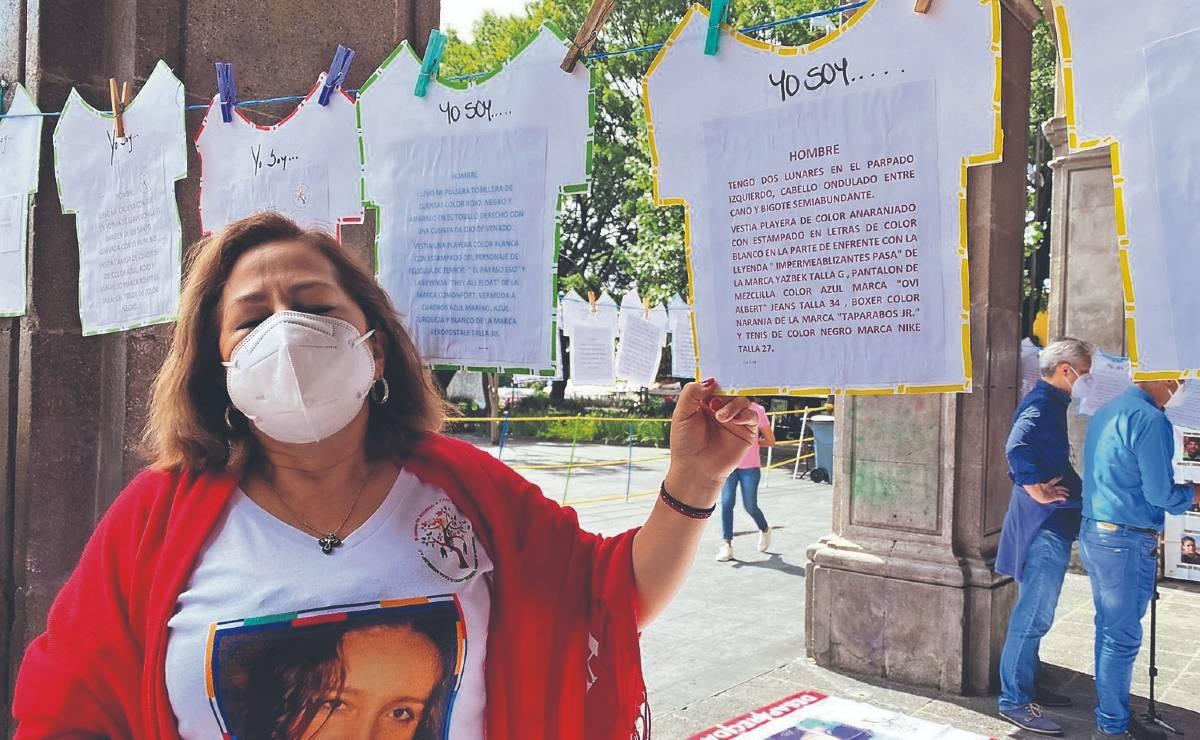 Instalan tendedero para ayudar a identificar cuerpos exhumados de los Semefos, en Morelos