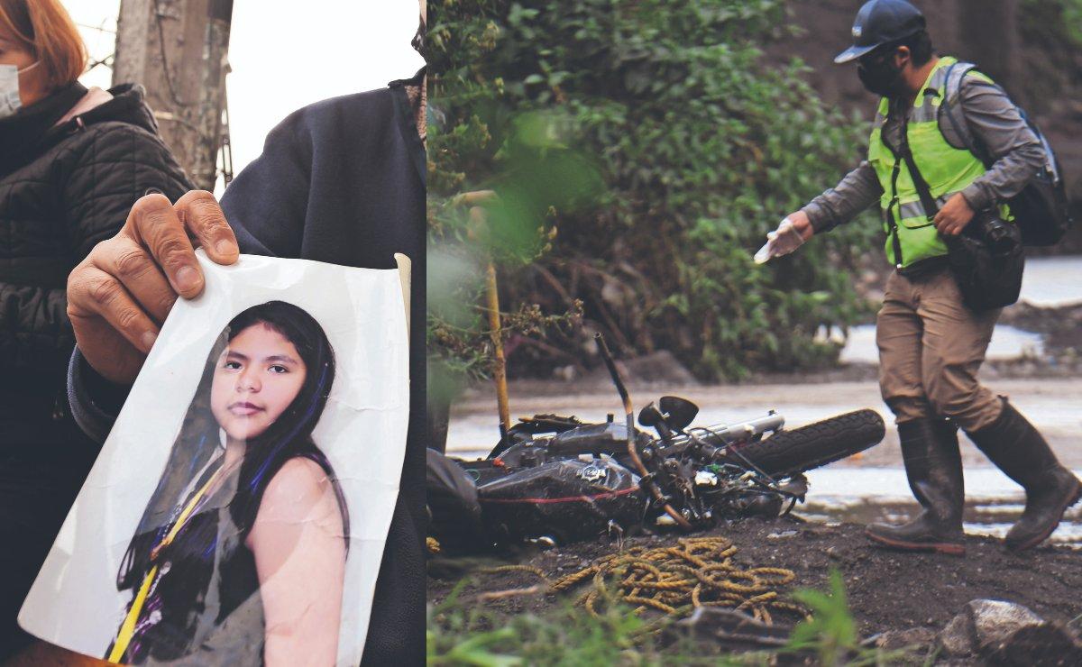 Ana Karen había salido por pizza con su novio, pero llovió y corriente la arrastró de Edomex a Hidalgo