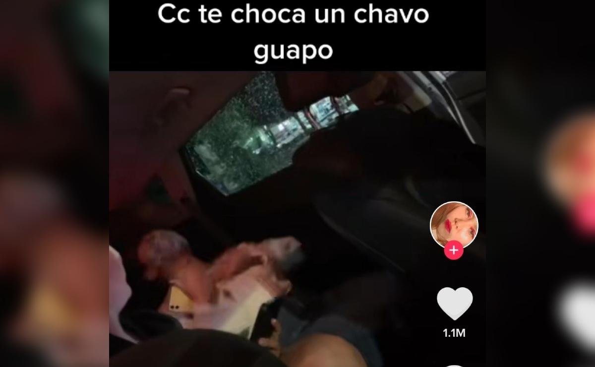 Víctima de choque se enamora en el accidente y se viraliza en TikTok