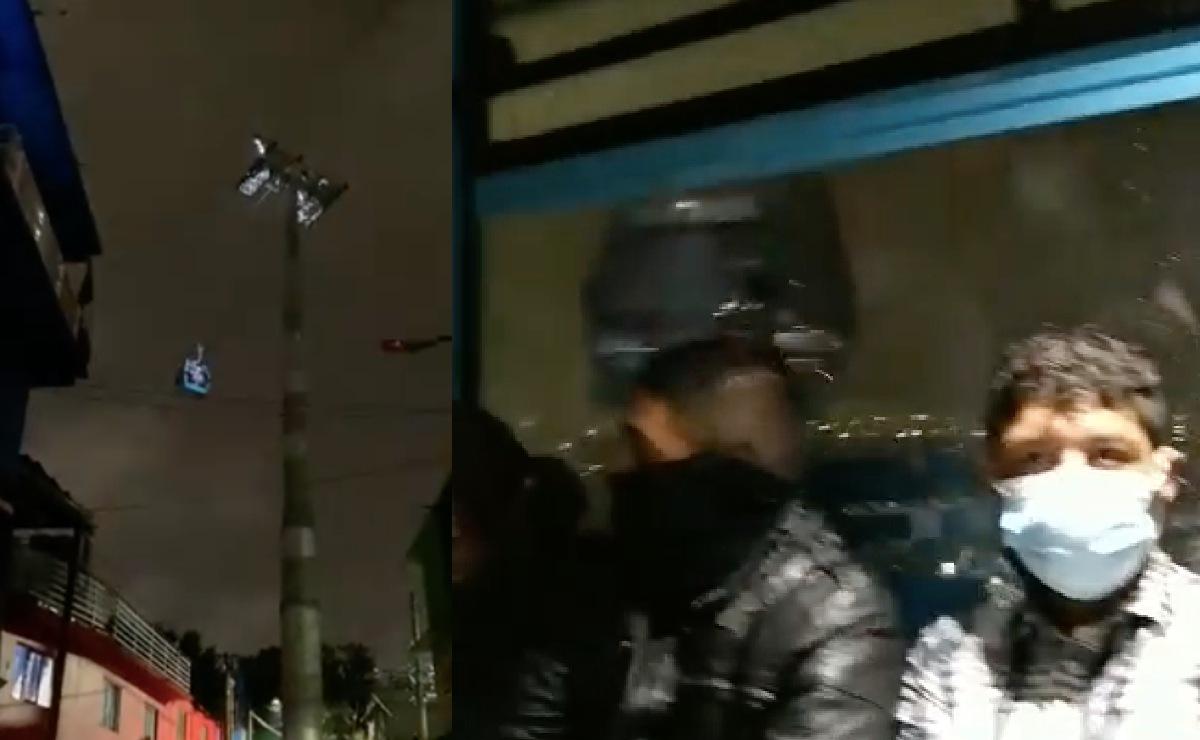 Cablebús vive su primer sismo y la gente queda atrapada una hora, VIDEOS captaron el terror