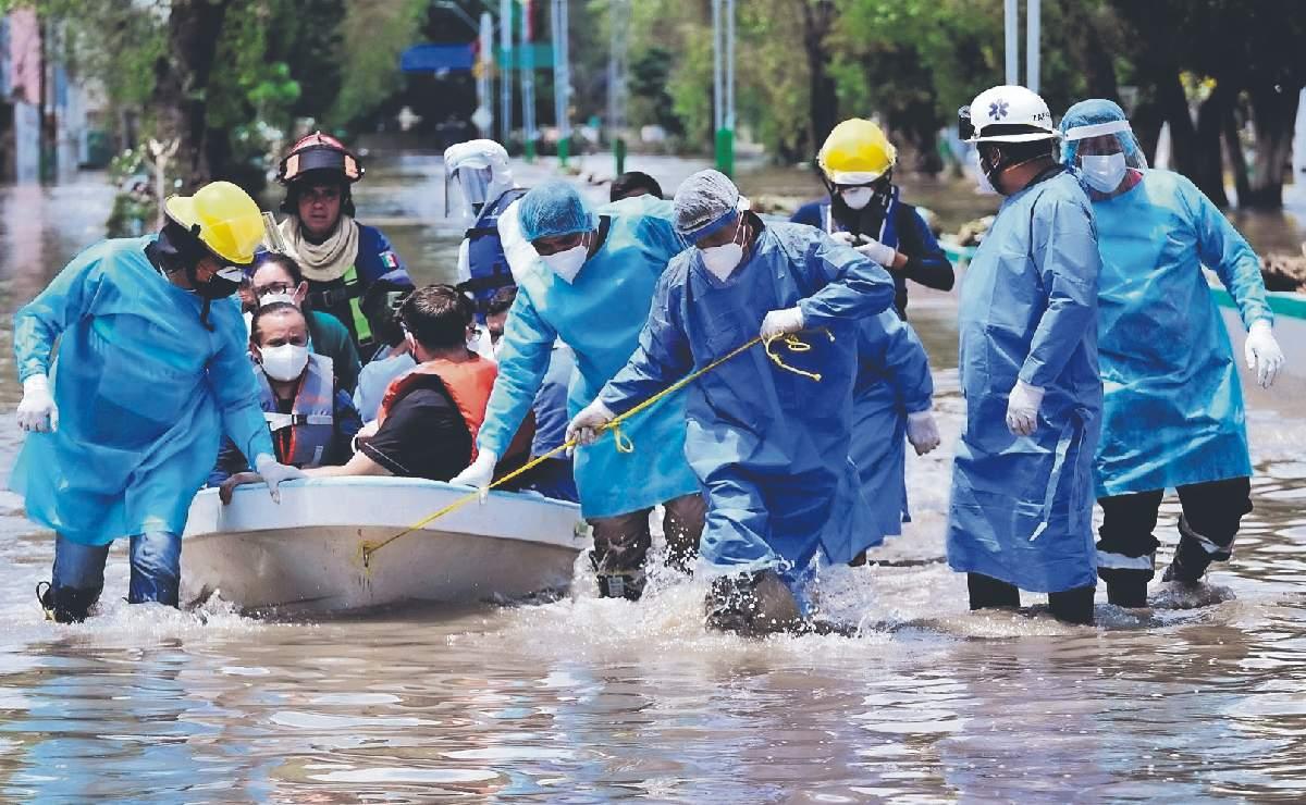 Mueren 17 hospitalizados por falta de oxígeno, tras inundación en Tula