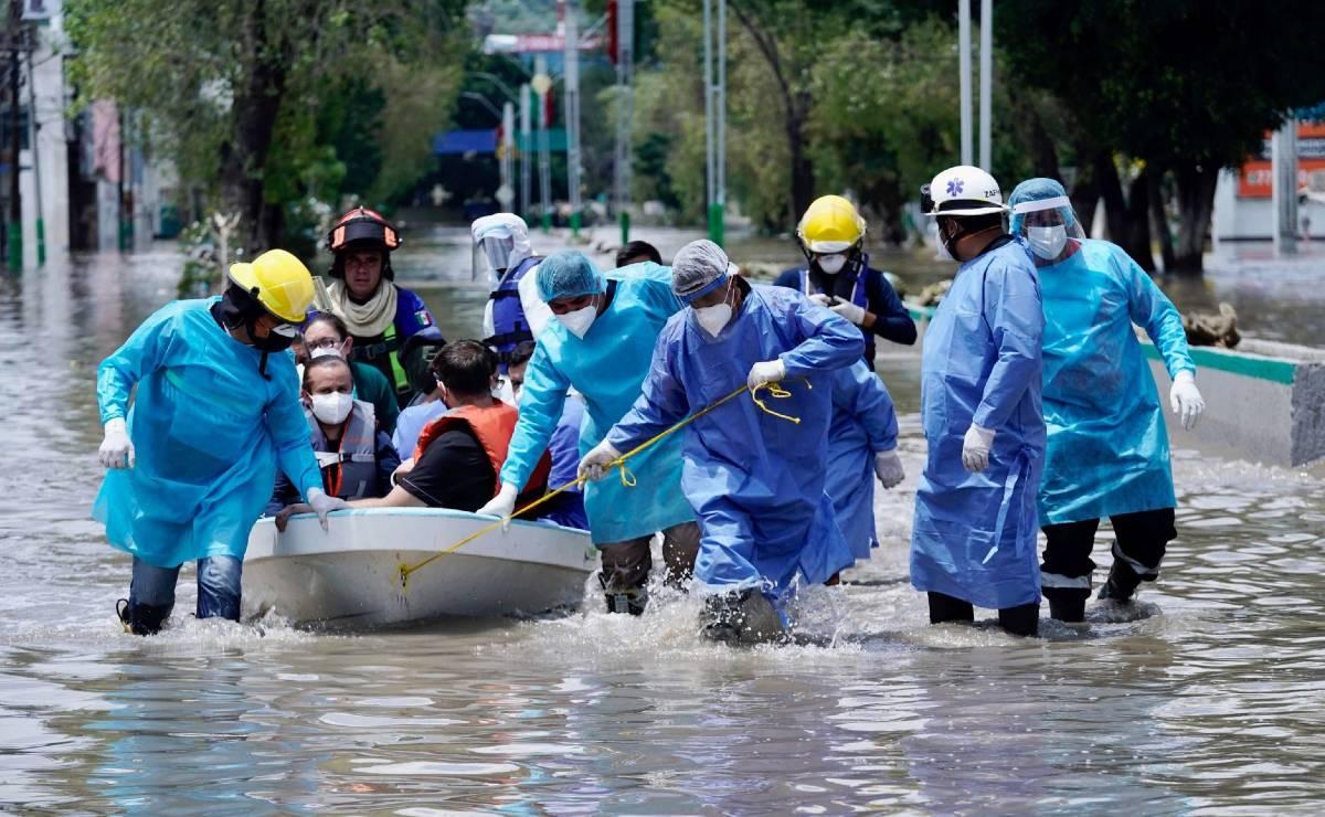 Advierten posible aumento de casos de Covid tras inundación en Tula, Hidalgo