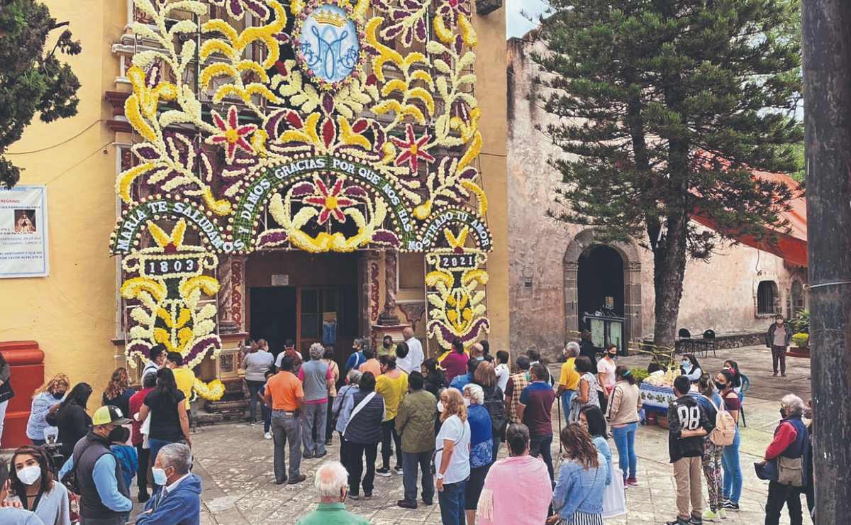Fieles chilangos y mexiquenses de la Virgen de Tlaltenango llegan a Morelos para festejo