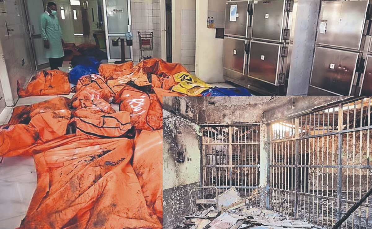 Salen de la cárcel 41 presos, irreconocibles y muertos tras incendio por cortocircuito