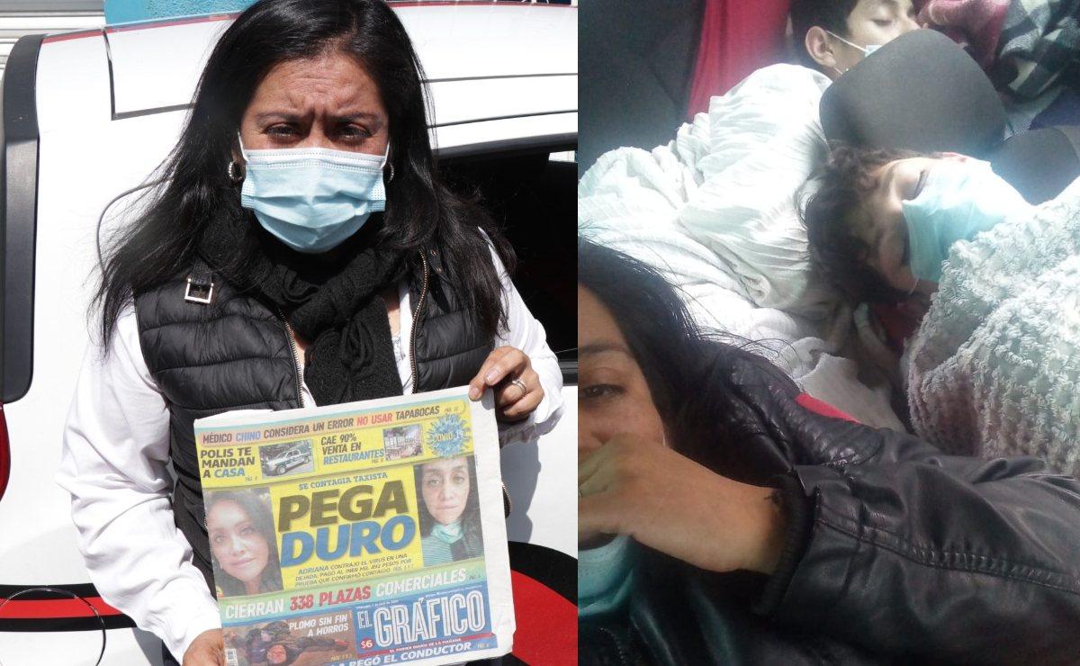 Mujer sobreviviente de Covid pasó 3 días en su taxi para salvar a sus hijos de inundación